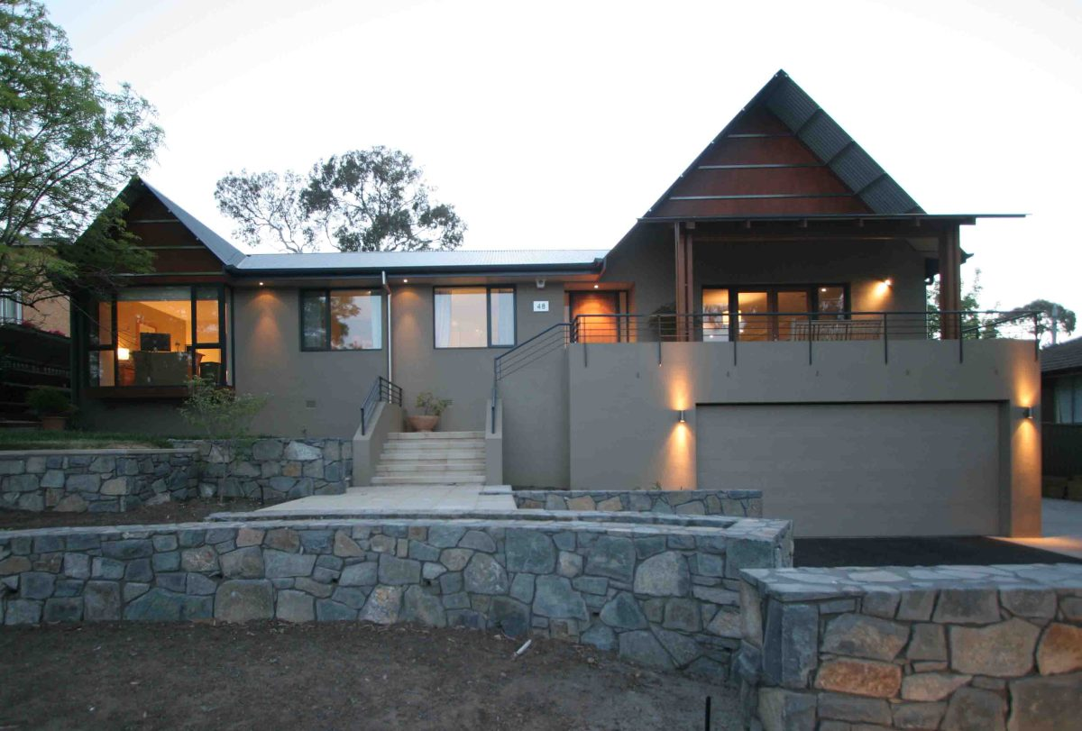 Rasmussen House - extension and renovation with 45° gable and thin edged roof