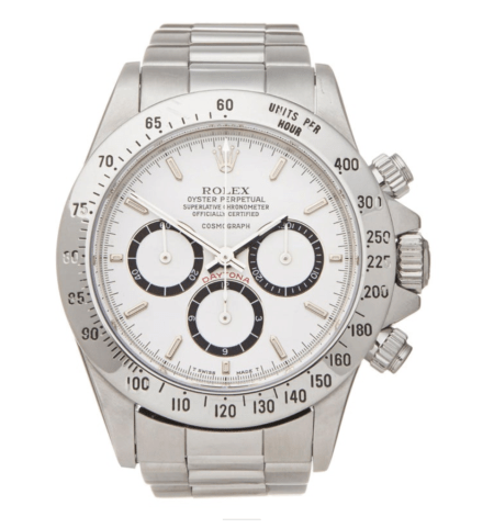 "The Holy Grail steel ""panda-eyes"" Rolex Daytona. Hard to buy!"