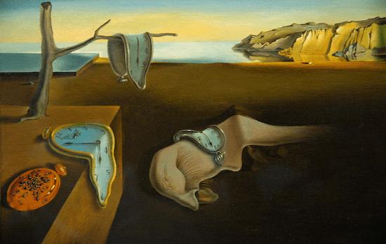 "Salvador Dali's iconic ""melting clocks"" - inspiration for the Cartier Crash watch?"