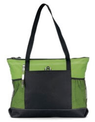 large green tote or purse