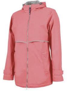 woman's raincoat peach