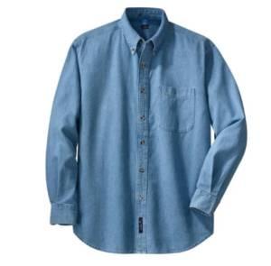 blue denim shirt long sleeve