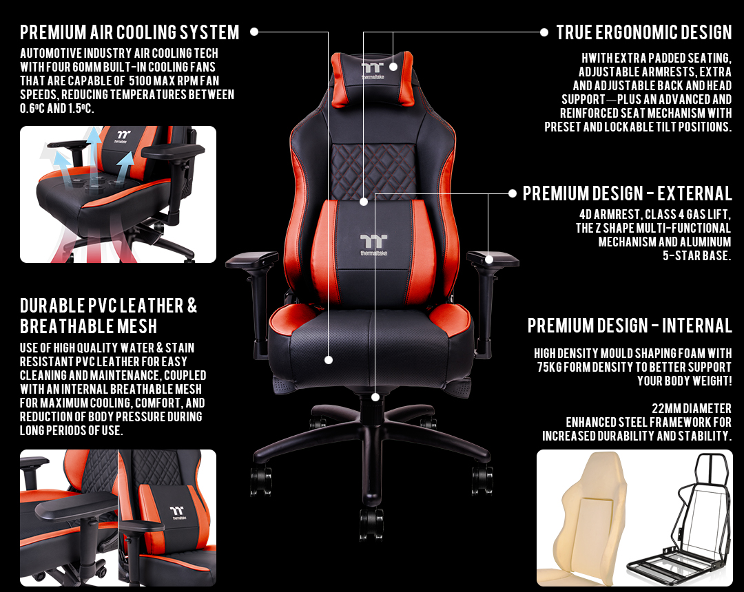 Body Built Chairs X Comfort Air Gaming Chair Black Red