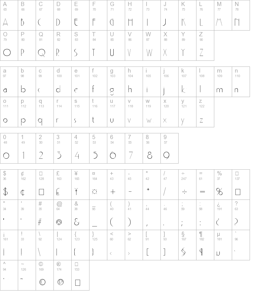 Gatsby Regular truetype font