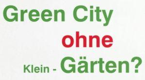 GreenCity ohne KleinGaerten ? @ Quartierstreff des BVB