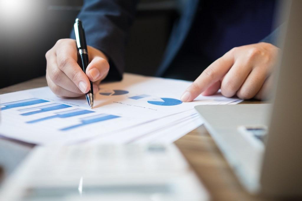Health economics consultant reviewing data