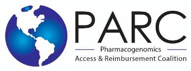 Logo of PARC, the Pharmacogenomics Access & Reimbursement Coalition.