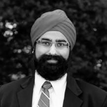 Black & White Headshot of Avi Chopra