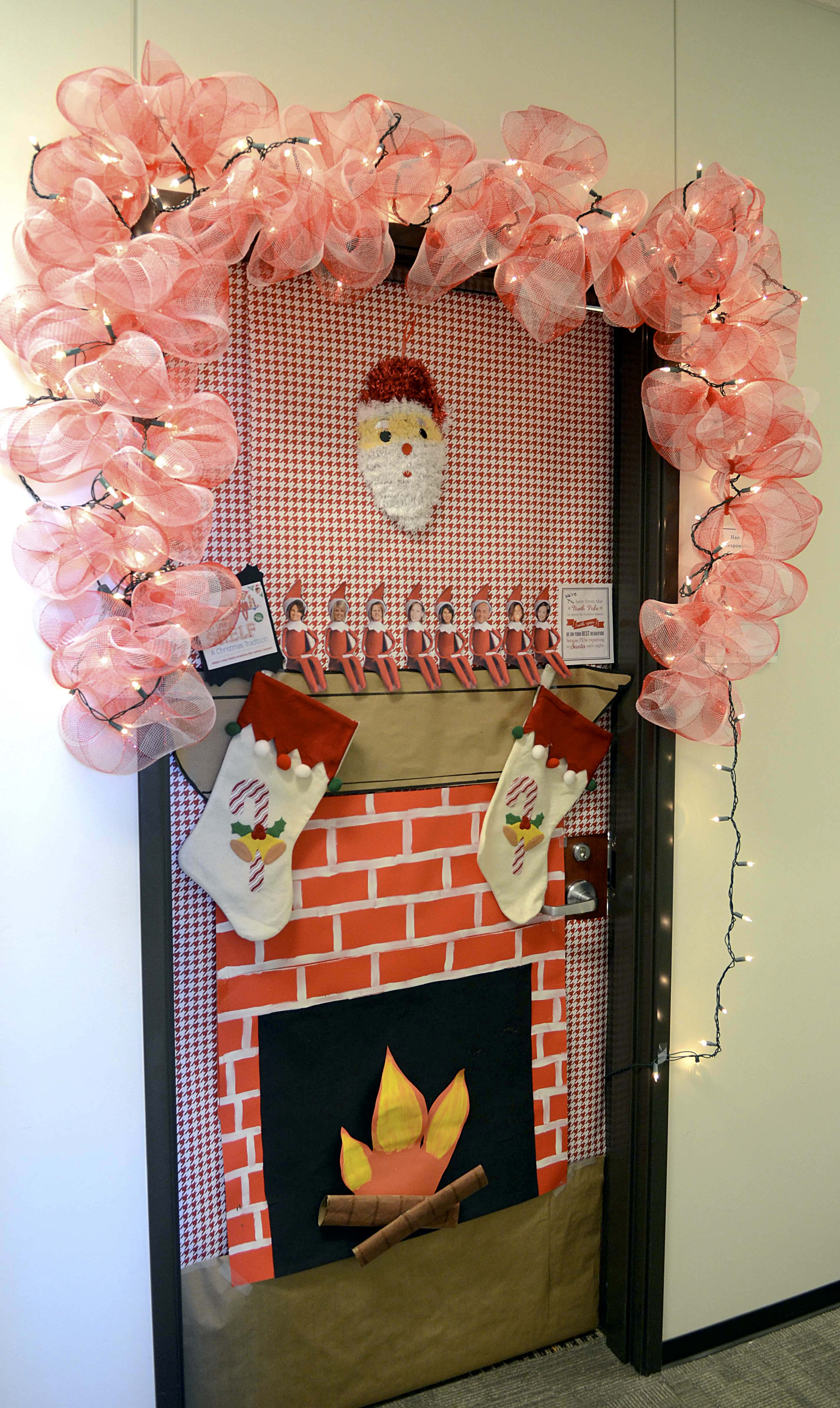 this is a photo of a decorated door