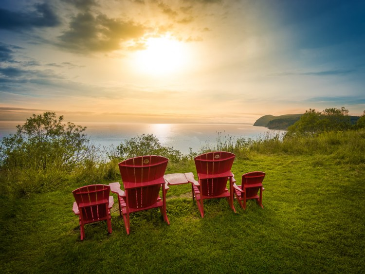 Canada New Brunswick Fundy Four Chairs