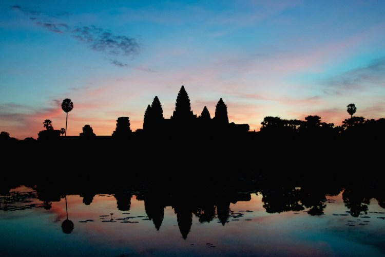 Angkor Wat Silhouette at Dawn - Copyright 2014 Ralph Velasco