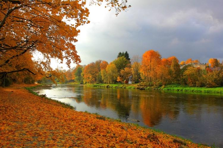 Autumn in Anyksciai Lithuania