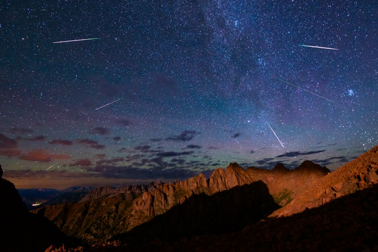 In order to capture the impressive Perseid Meteor Shower, I hauled my photography equipment on a gruelling 7-hour backpack up one of the steepest trails in Colorado to the 13,000 foot gap between Pigeon Peak and Turret Peak. The result was this magical scene in which I was able to gaze upon cascading meteors for three hours while shivering high above Silverton (seen bottom left) and Durango as the setting moon illuminated the ever impressive Animas Mountain and Monitor Peak across the valley from me.