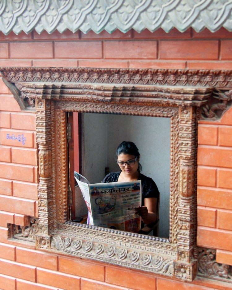 People Reading Newspapers - Kathmandu, Nepal - Copyright 2013 Ralph Velasco