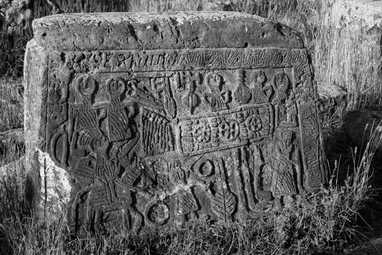 Story Head Stones BW - Noratus, Armenia - Copyright 2018 Ralph Velasco