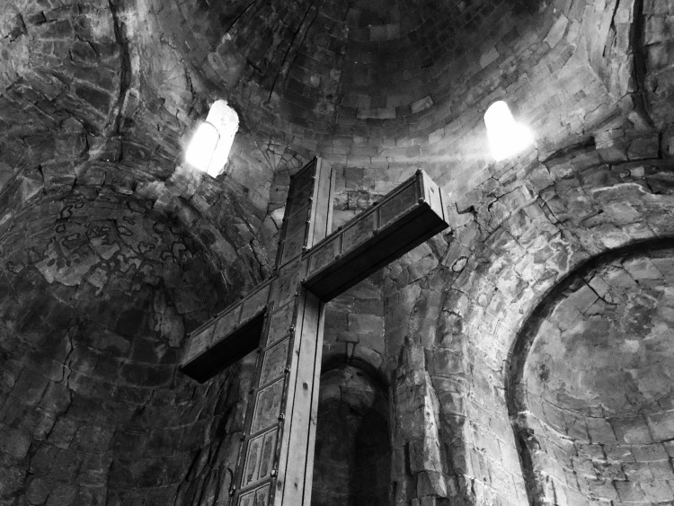 iPhone Shot of Cross in BW - Jvari Monastery - Copyright 2018 Ralph Velasco