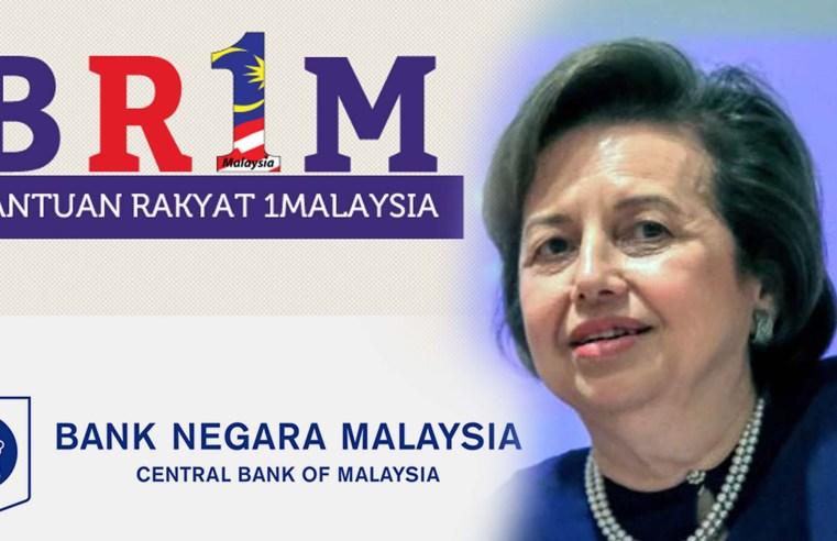 BR1M diilhamkan oleh BNM pada 2011, Zeti Gabenor bank ketika itu.