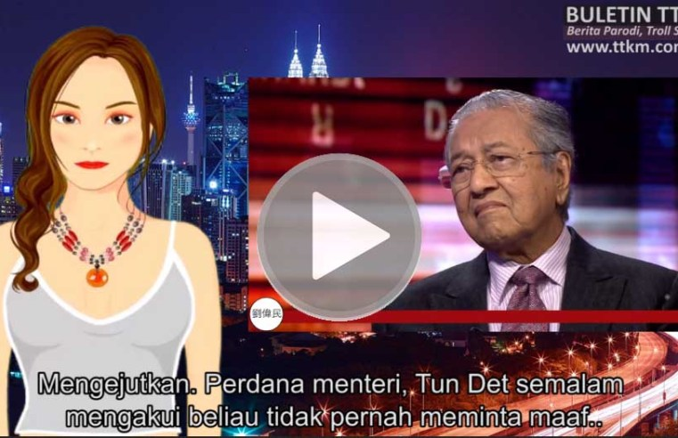 """(Video Mia Jalipah) Tun vs Bang Non: """"Sorry seems to be the hardest word"""""""