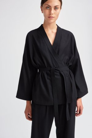 Rodebjer - Cherry Kimono - Black - Front