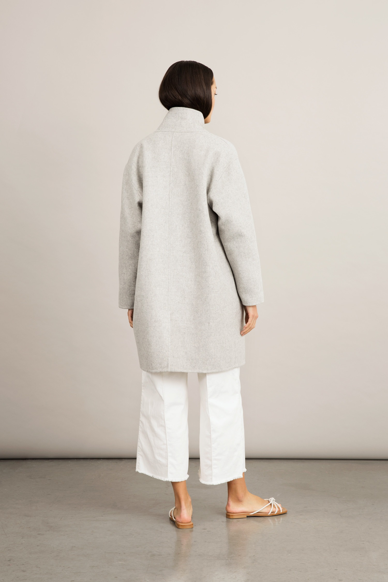 Stylein - Tessa Coat - Light Grey - Back