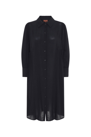 HunKøn - Alberte Shirtdress - Black - Front