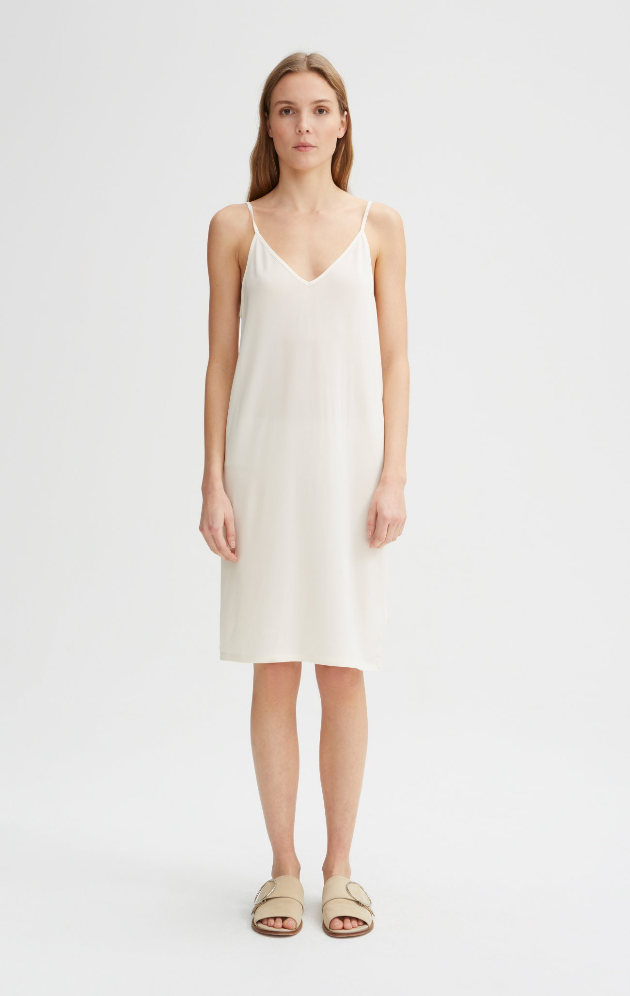 Rodebjer - Winifred Slip Dress - Off White - Front 02