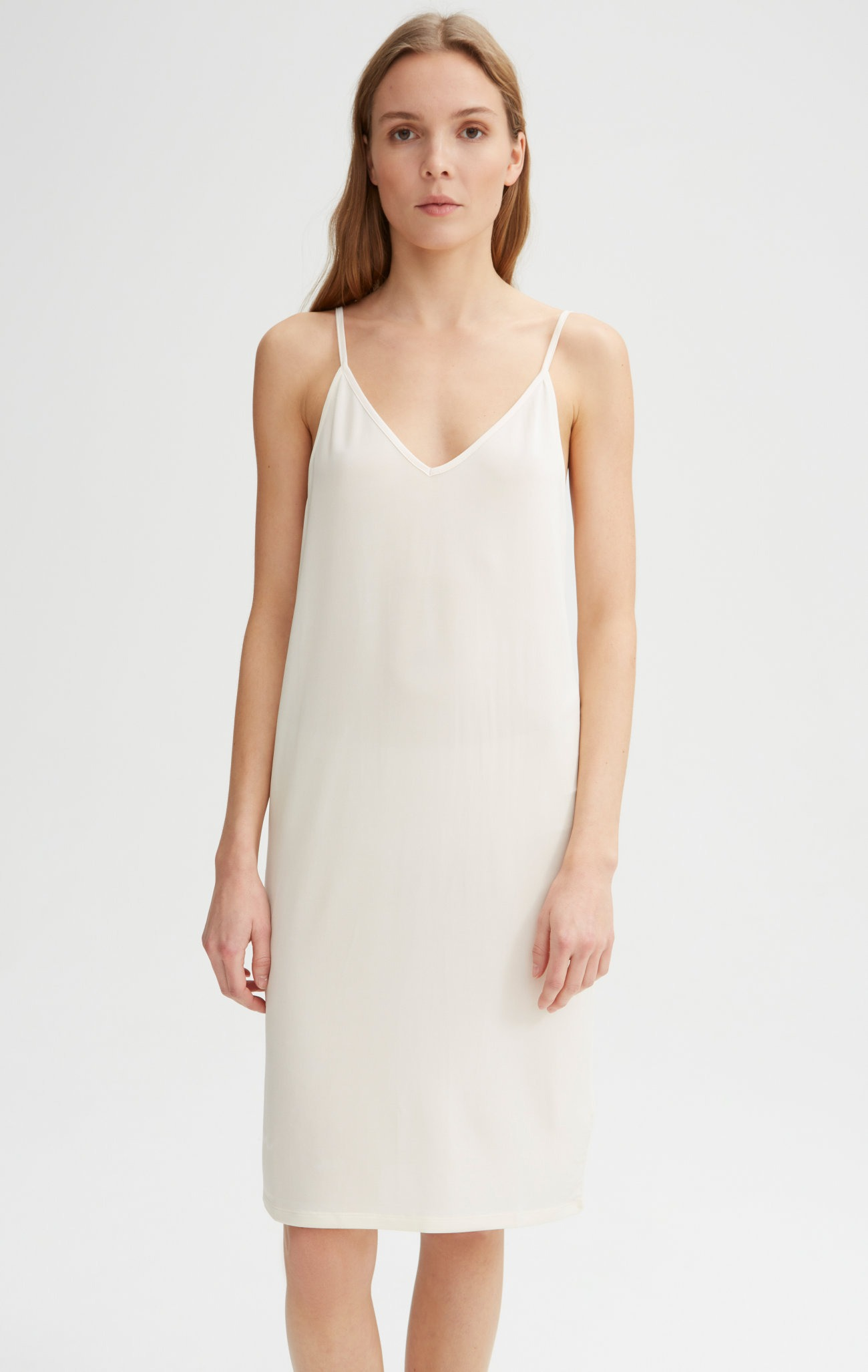 Rodebjer - Winifred Slip Dress - Off White - Front Close Up