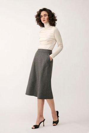 Stylein - Broni Skirt - Grey - Front
