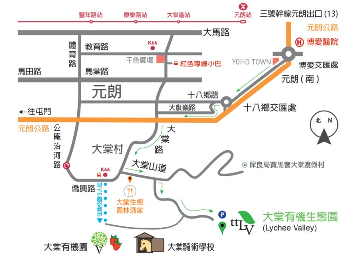 TTLV Directions Map (chinese)