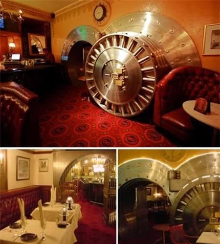 Những nhà hàng kỳ quặc nhất thế giới, Phi thường - kỳ quặc, Nha hang ky la, nha hang thac nuoc, nha hang ham mo, nha hang noi, nha hang ngan hang, chuyen la, chuyen la the gioi