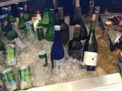 Alcoholic beverages on offer