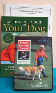 Telington TTouch for your dog set dvd, book, and flashcards.