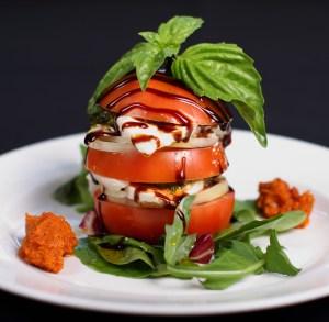 Tomato, mozzarella, basil salad.