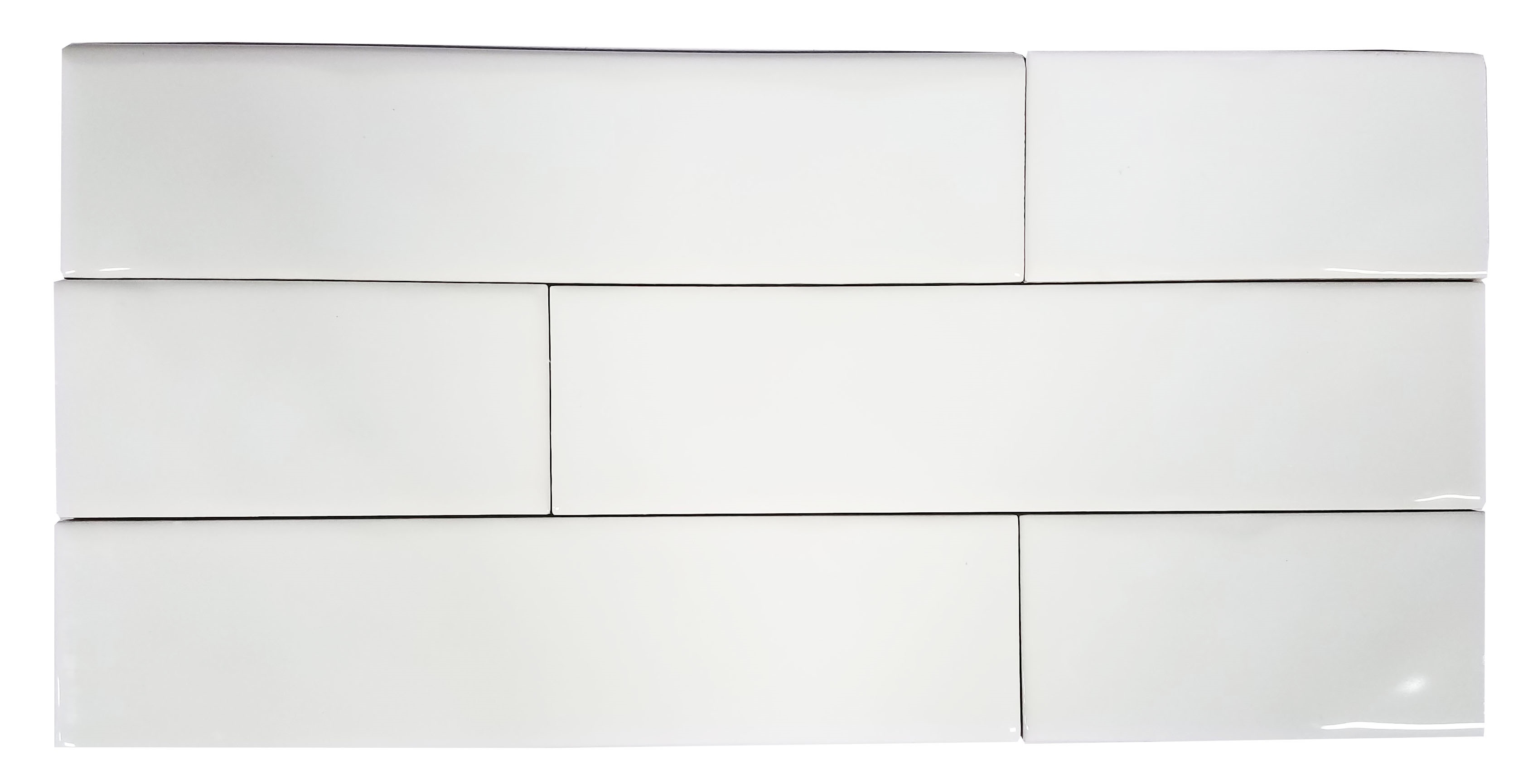 2 x 8 chelsea white ceramic wall studio