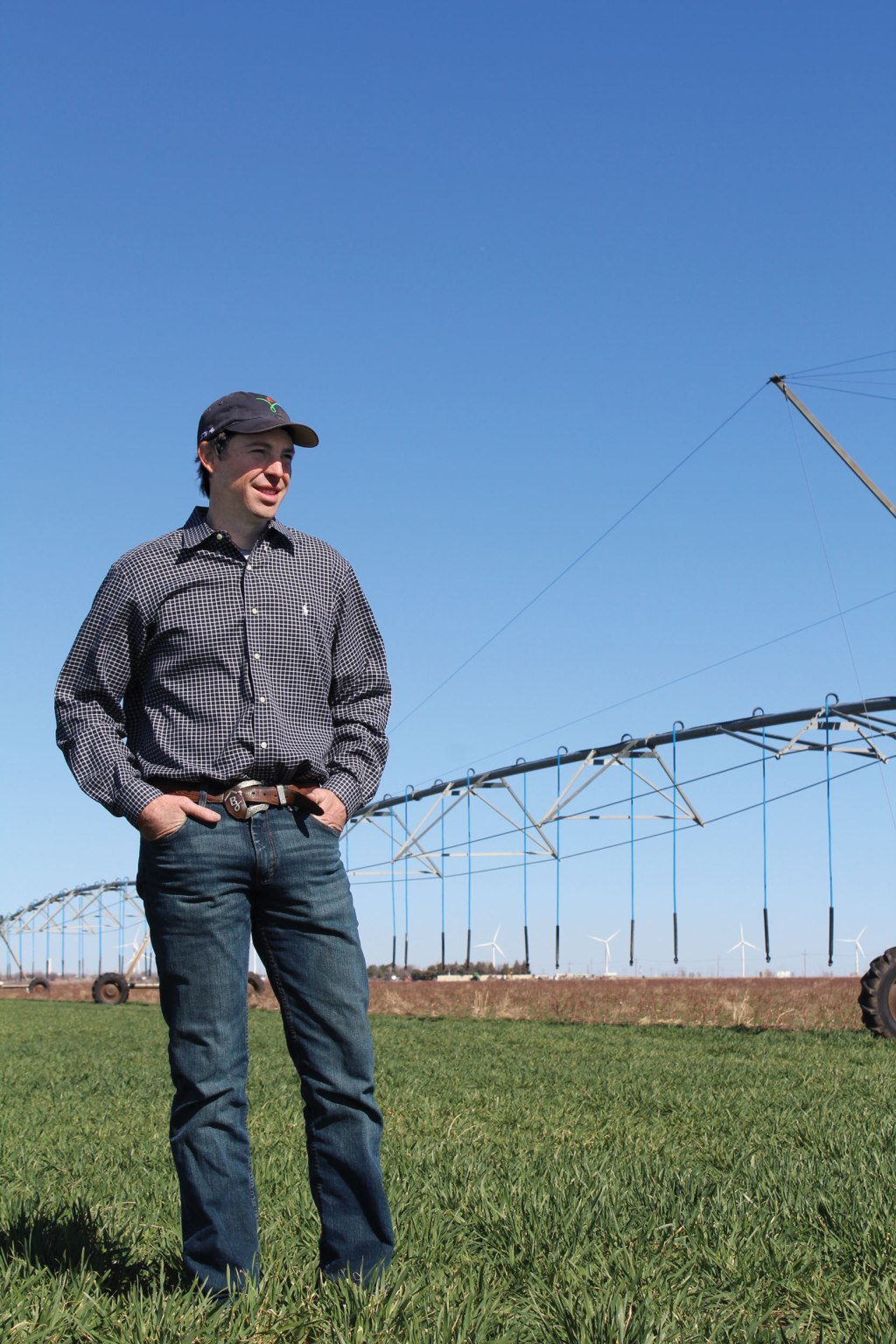 Although the market is not always in the farmer's favor, Braden loves what he does every day.