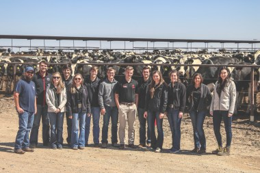 CASNR MILE students have the opportunity to tour different operations like the dairy in Plainview, TX