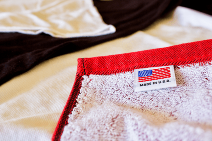 Keeping business local – all products are American grown and American sewn.