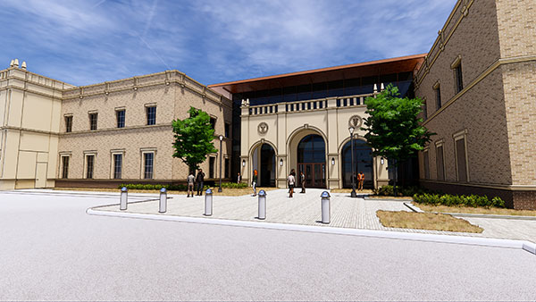 A rendering of the Texas Tech University School of Veterinary Medicine.
