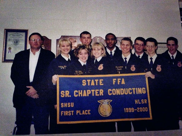 Carmen Fenton and her FFA chapter conducting team.