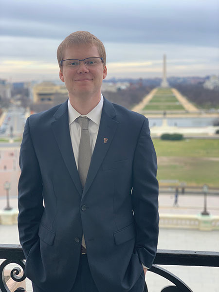 Raftis standing at Capitol Hill