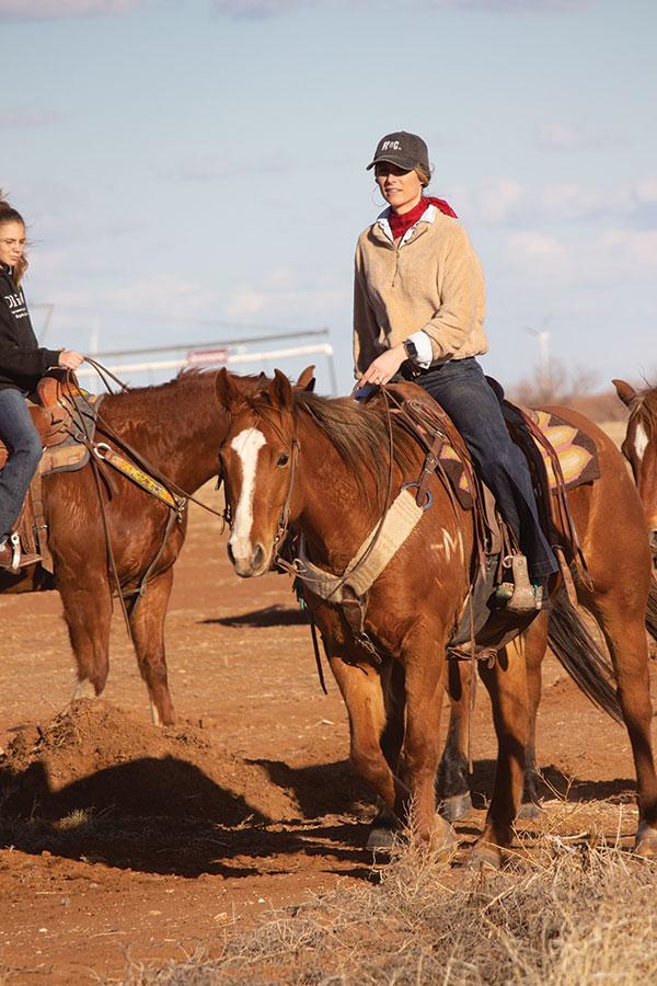 Women on horse
