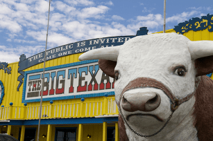 The Big Texan in Amarillo is famous for its free 72-ounce steak dinner.