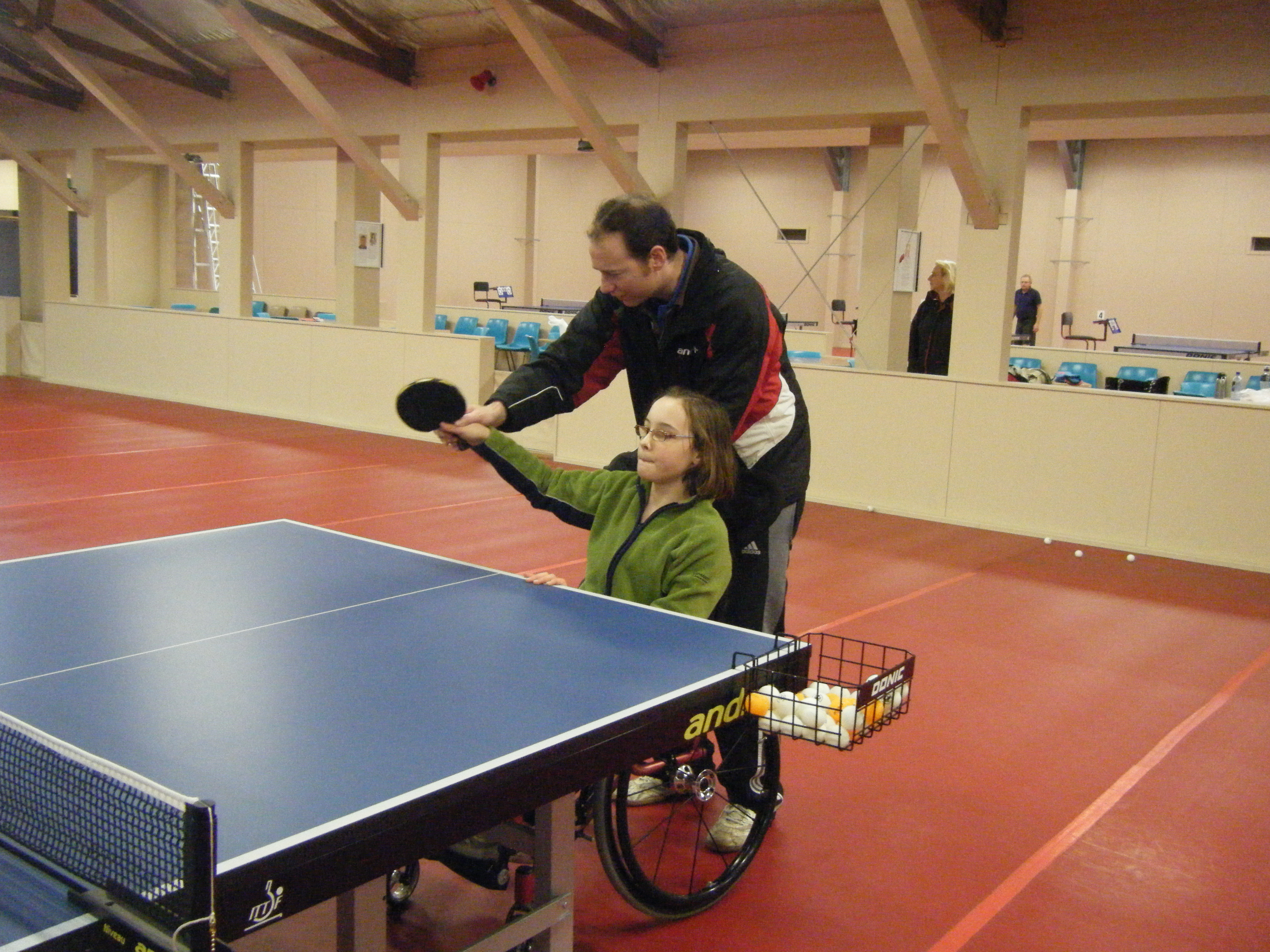 wheelchair with pot black wingback chair june 2010 – table tennis wellington