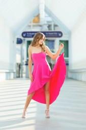Senior pictures in designer dress