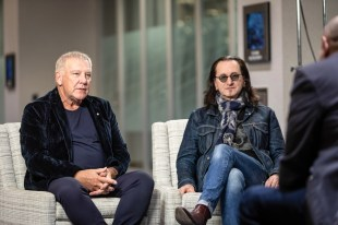 Alex Lifeson and Geddy Lee of Rush