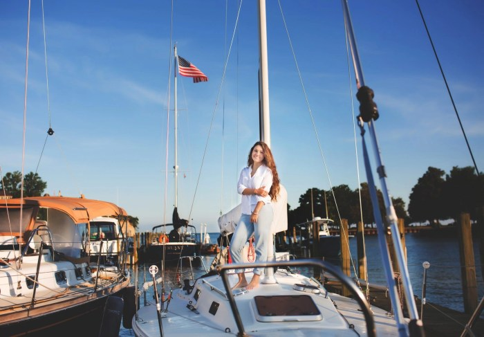 Senior Pictures at Cleveland Yachting Club