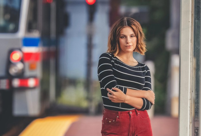 senior pictures at the cleveland rapid station