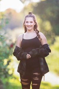 Rocky River Senior Photography at Apple Orchard