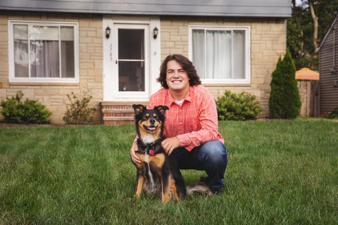 Featured Rocky River, Ohio Senior Photography with family dog
