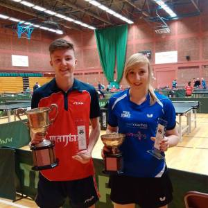Callum Evans and Charlotte Carey Welsh Champions 2017